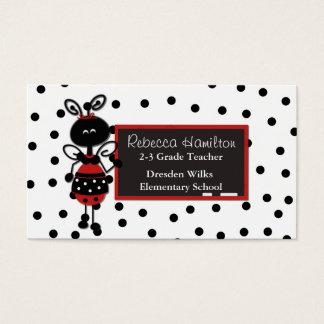 Ladybug Blackboard Teacher's Business Card