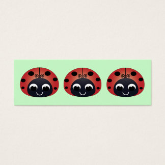 Ladybug Bookmark Mini Business Card