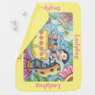 Ladybug Bubblebath SOFT BABY BLANKET *Personalize