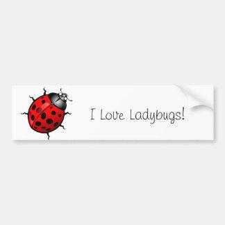 Ladybug Bumper Sticker Bumper Sticker