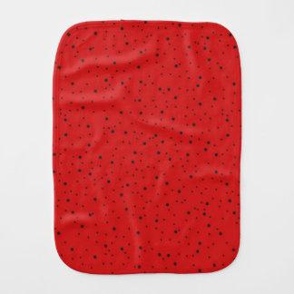 Ladybug Baby Burp Cloths