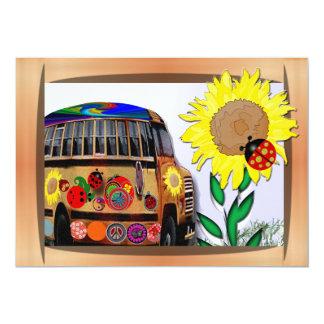 Ladybug Bus and Sunflower Card