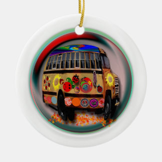 Ladybug Bus Christmas Ornament