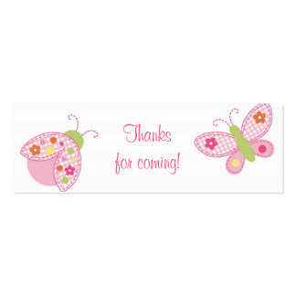 Ladybug Butterfly Baby Shower Favor Gift Tags Pack Of Skinny Business Cards
