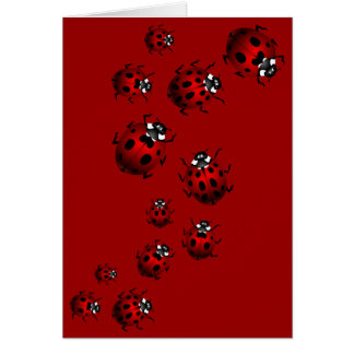 Ladybug Card Custom Ladybug Art Card - Blank