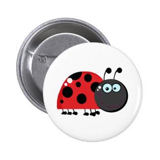 Ladybug Cartoon Character Buttons