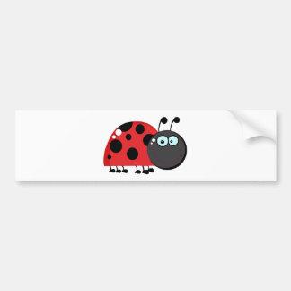 Ladybug Cartoon Character Bumper Sticker