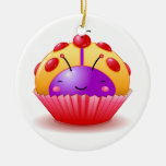 Ladybug Cherry Cupcake Ornament