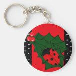 Ladybug Christmas keychain