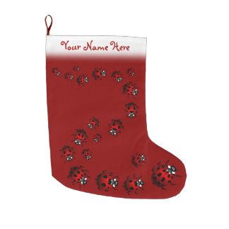 Ladybug Christmas Stocking Personalized Ladybird