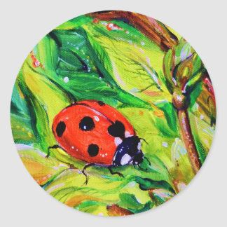 Ladybug Classic Round Sticker