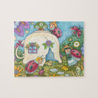 Ladybug Cottage Interlocking PUZZLE