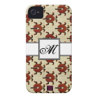 Ladybug Cross-stitch Embroidery Pattern Monogram iPhone 4 Case-Mate Cases