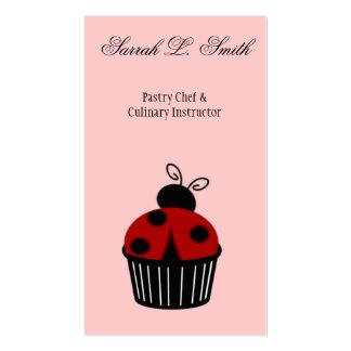 Ladybug Cupcake Business Card