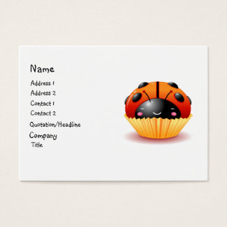 Ladybug Cupcake Business Card