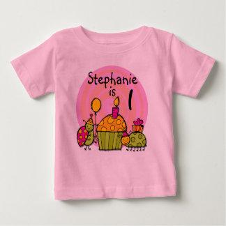 Ladybug Cupcake Customizable Birthday T-shirt