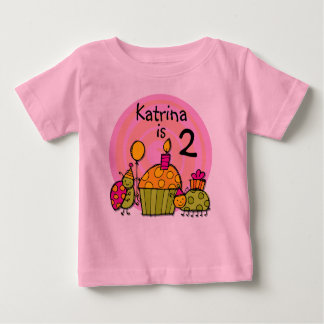 Ladybug Cupcake Customizable Birthday T-shirt