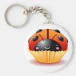 Ladybug Cupcake Keychain