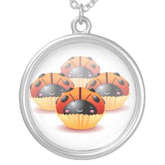 Ladybug Cupcake Necklace