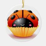 Ladybug Cupcake Ornament
