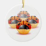 Ladybug Cupcakes Ornament