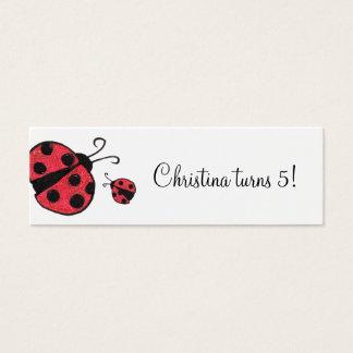 Ladybug Custom Gift Tags