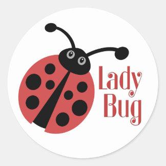 Ladybug Cute Animal Print Round Sticker