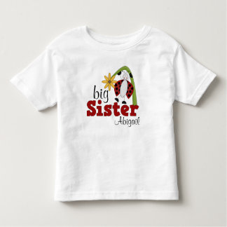 Ladybug Daisy Flower Big Sister Toddler T-Shirt