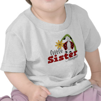 Ladybug Daisy Flower Little Sister Tee Shirt