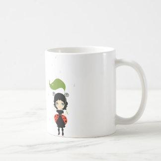 Ladybug design mug without background