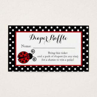 Ladybug Diaper Raffle Ticket