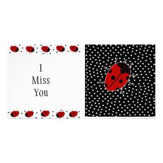 Ladybug Dot Stationary Photo Card