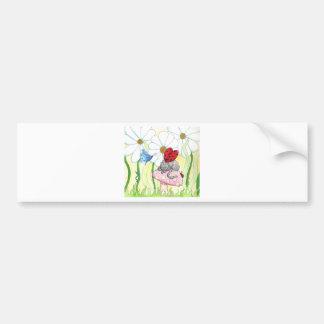 Ladybug Fairy Cat Car Bumper Sticker