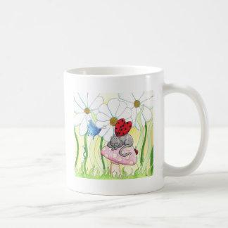 Ladybug Fairy Cat Coffee Mug