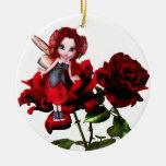 Ladybug Fairy on Red Roses
