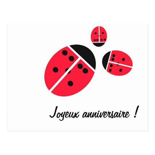ladybug family postcard