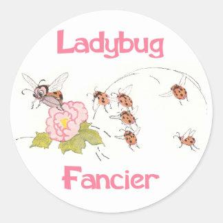 Ladybug Fancier Round Sticker