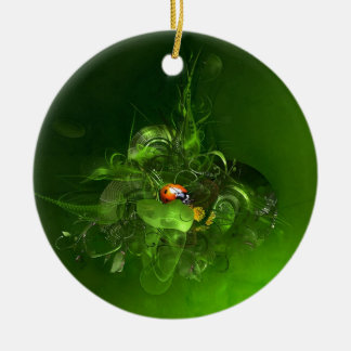 Ladybug Fantasy Christmas Ornament