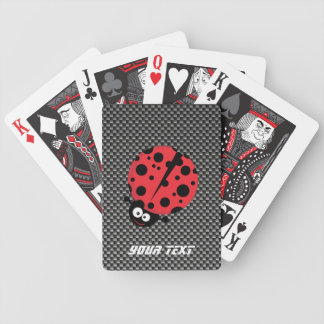Ladybug; Faux Carbon Fiber Bicycle Playing Cards