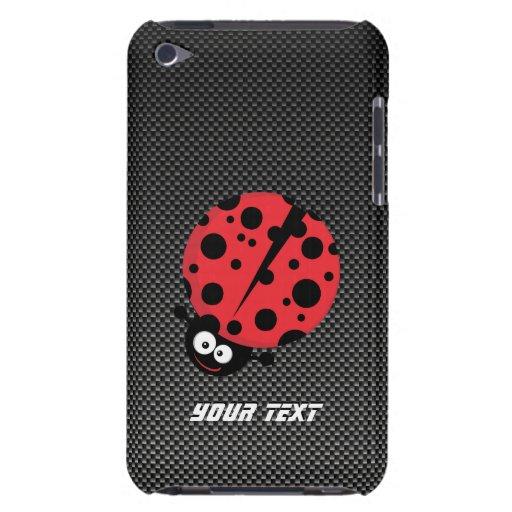 Ladybug; Faux Carbon Fiber iPod Touch Cases