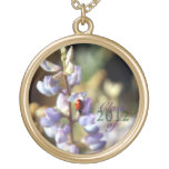 Ladybug Floral  Class of Graduation Gold Necklace