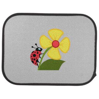 Ladybug Flower Car Mat
