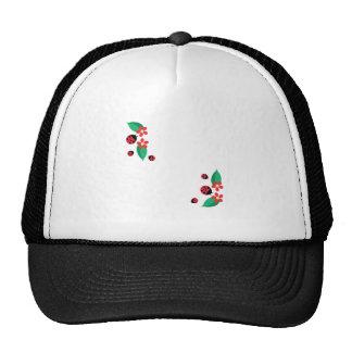Ladybug Flowers Cap