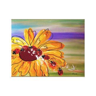 Ladybug Follow the Leader Canvas Print