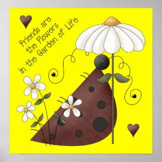 ladybug Friendship Poster