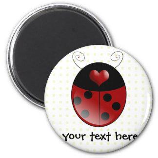 Ladybug Gifts 6 Cm Round Magnet