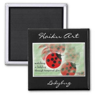 Ladybug Haiku Art Magnet