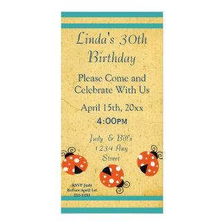 Ladybug Happy Birthday Customised Photo Card
