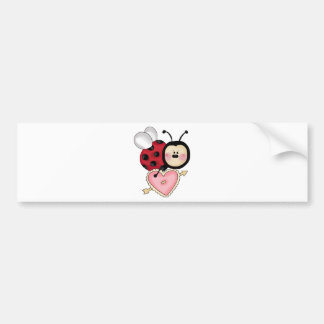 ladybug heart bumper stickers