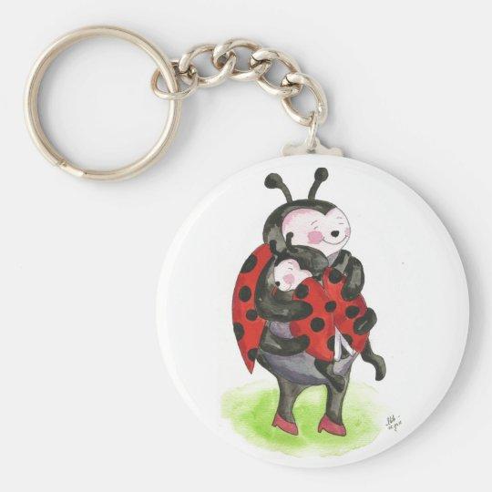 Ladybug hug key ring